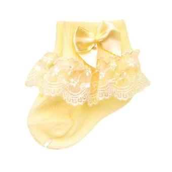 Bow Lace Newborn Baby Cotton Socks, Cute Princess Style