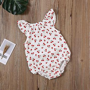baby jenter romper sommer spedbarn unisex nyfødte ermeløse jenter print jumpsuit