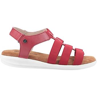 Hush Puppies Hailey Ladies Leather Strappy Sandals Red