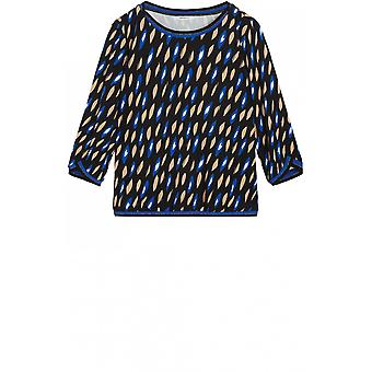 Sandwich Clothing Blue Bold Print Blouse