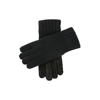 Men's Knitted Gloves with Suede Palm Patch