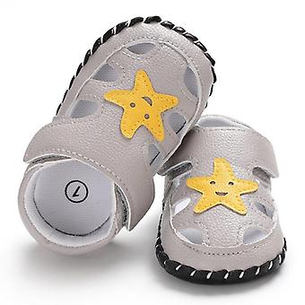 New Fashion Newborn Baby Soft Sole Shoes - Summer Leather Sandals