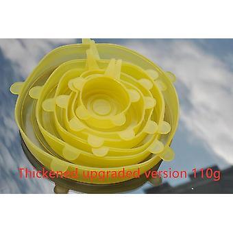 6ks Opakovane silikónové strečingové viečka - Univerzálny kryt potravinového zábalu