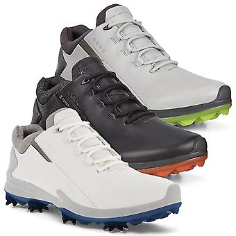 Ecco Mens 2021 Golf Biom G3 Dritton Gore Tex Lederen Spiked Golf schoenen