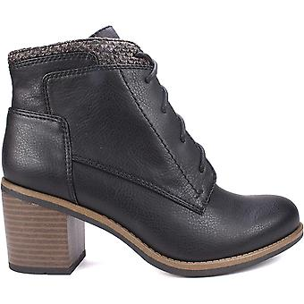 White Mountain Women's Shoes DESMEN Leather Almond Toe Ankle Fashion Boots