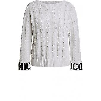 Oui Cream Cable Knit Jumper