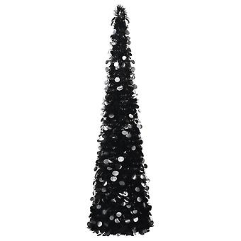 vidaXL Artificial Pop-Up árbol de Navidad negro 180 cm PET