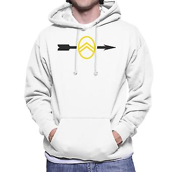 Citro�n 1922 Badge Black Arrow Logo Men's Hooded Sweatshirt