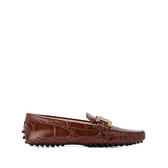 Tod's Xxw00g0de50xlxs603 Women's Brown Leather Loafers