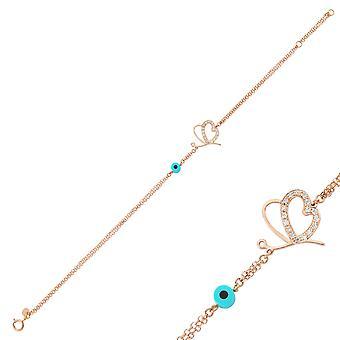 Hart en vlinderdiamant armband