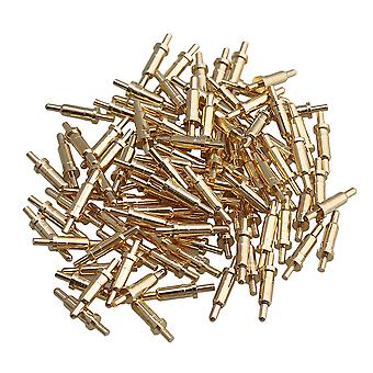 100 Piece Gold Plated PCB Test Probes Pin Pogo Pin Connector 2mm Pin