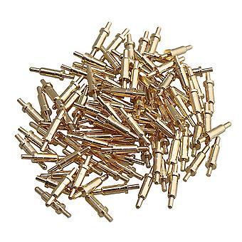 100 db aranyozott PCB teszt szondák Pin Pogo Pin Csatlakozó 2mm Pin