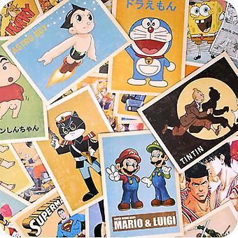 32 Pcs/set Comic Greeting Cards, Collector Retro Nostalgia Postcards Carte