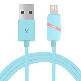 1M Pyöreä Bobbin Lahjalaatikko Tyyli 8 Nasta USB Data Sync -kaapeli LED-merkkivalolla, iPhone X / iPhone 8 & amp; 8 Plus / iPhone 7 & 7 Plus / iPhone