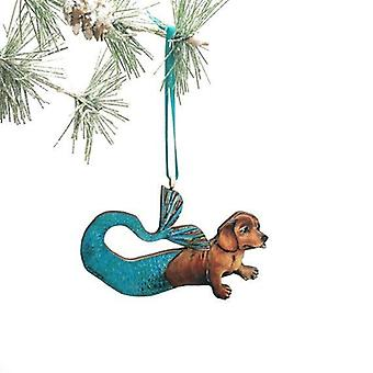 Havfrue Dachshund Ferie Ornament