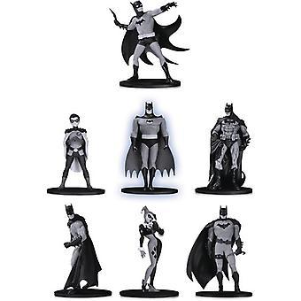 Batman Black & White Mini Pvc Figure 7 Pack Set 2 USA import