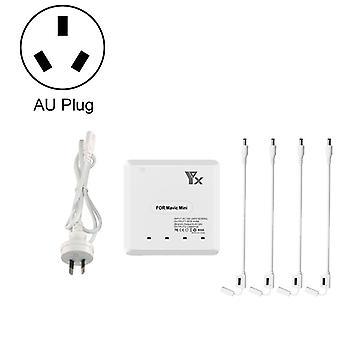 Pour DJI Mavic Mini Charger Batterie USB 6 en 1 Hub Intelligent Battery Controller Charger, Plug Type:AU Plug