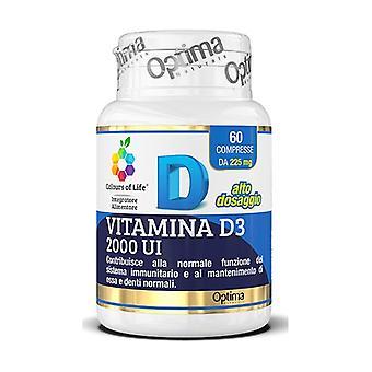 Vitamin D3 2000 IU 60 tablets of 225mg