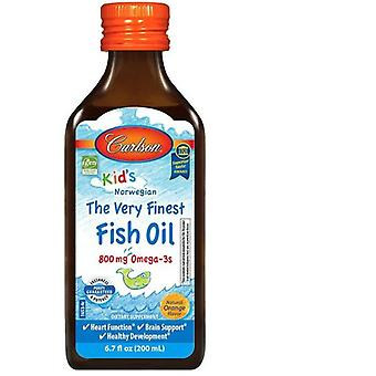 Carlson Labs Kid's The Very Finest Fish oil 800 mg natural orange 200 ml
