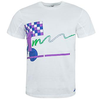 Diadora Mens T-Shirt Graphic Design Branded Top White 172677 20002