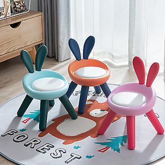 Пластиковый шаг стул с задней поддержки анти скольжения 4-ноги шаг стул для детей малыш ребенка Симпатичный Pet Кролик Председатель