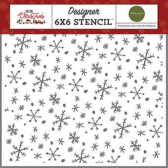 Carta Bella Wonderland Snowflakes 6x6 Inch Stencil