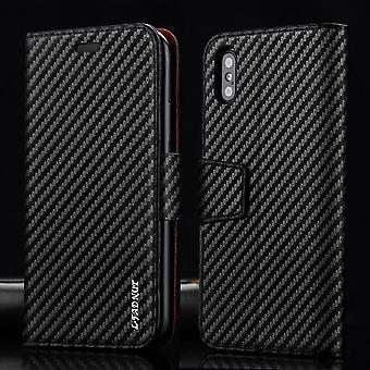 Luxus Kohlefaser Brieftasche Handytasche für Iphone 8 Plus 7 6 s 6 Se 11 Pro Max Xr