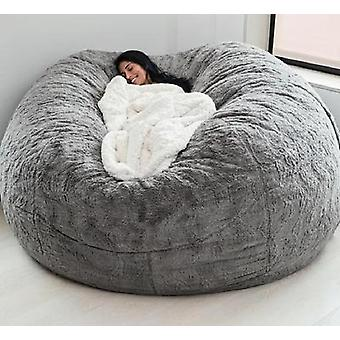 Fur Soft Bean Bag Sofa Cover Living Room Furniture Party Leisure Giant Round
