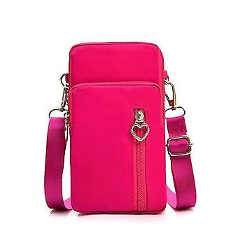 Frau Brieftasche Beutel Mini Schulter Reißverschluss Tasche