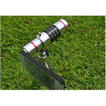 18x Zoom Aluminum Manual Focus Telephoto Camera