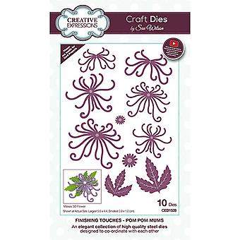 Creative Expressions Cutting Dies - Viimeistely - Pom Pom Mums