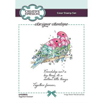 Creatieve uitdrukkingen Designer Boutique Collection Together Forever A6 Clear Stamp