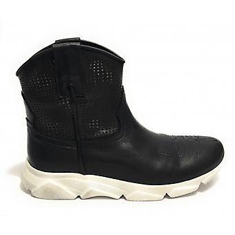 Women's Shoes Texan Ankle Boot Running Life Black Calfskin Fund Ds19li06