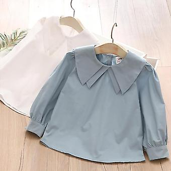 Cotton Long Puff Sleeve Loose Blouses Shirt