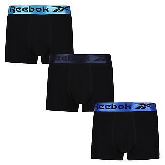 Reebok Mens Clemons 3 Pack BoxersHorts Elastische Tailleband Ondergoed
