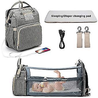 Bærbar folde krybbe ble taske, Multi-funktion, Baby Rygsæk, Diaper Baby