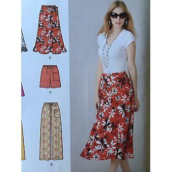 بساطة نمط الخياطة 1807 السيدات يفتقد تنورة السراويل قصيرة حجم 8-16 Uncut