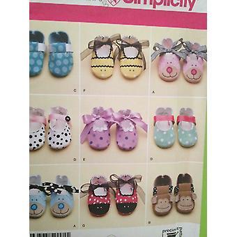 シンプルな縫製パターン2491ベビー幼児履物靴スリッパサイズXS-L UC