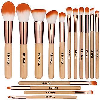 BS11 - BS-MALL 15 st. exklusiva Make-up / sminkborstar av Bästa Kvalité