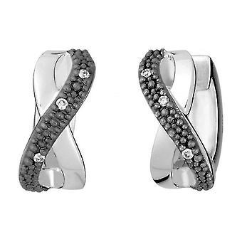QUINN - ترصيع (زوج) - الفضة - الماس - وز. (H) - صغيرة بما في ذلك - 360209
