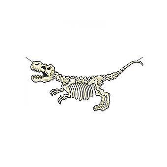 Kartonnen skelet banner dinosaurus 71 x 152 cm