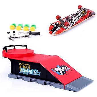 HanFei Mini Finger Skateboard und Ramp Zubehr Set (D)