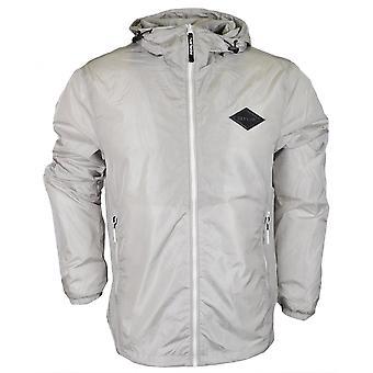 リプレイ ナイロン フード付き ライト グレー ジャケット