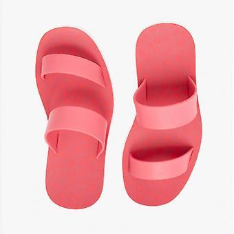 Joules Ara señoras recicladas sandalias de mula de goma rosa