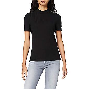 PIECES PCKYLIE SS T-Neck Top Noos T-Shirt, Black (Black), S Woman