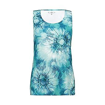 CMP 4-Way Stretch Tank Top with Floral Pattern 30C7986, Women's T-Shirt, Ceramic White, D46