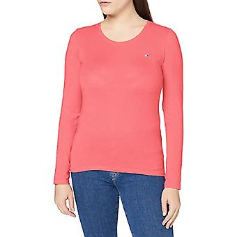 Tommy Jeans TJW Stretch Jersey Scoop Neck T-Shirt, Rose Glamour, M Femme
