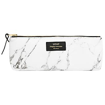 Wouf White Marble Pencil Case
