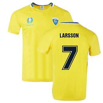 Sweden 2021 Polyester T-Shirt (Yellow) (LARSSON 7)