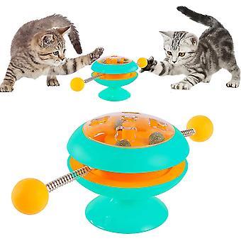 Sininen interaktiivinen kissa lelut kissa teaser kiinni kissanminttu pallo levysoitin lelu cai774